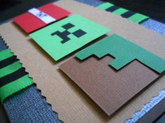 Minecraft Invitations by DelightfulMotif on Etsy Minecraft Birthday Card, Birthday Cards For Boys, Minecraft Party, Boy Birthday Parties, 8th Birthday, Minecraft Invitations, Birthday Invitations, Boy Cards, Kids Cards