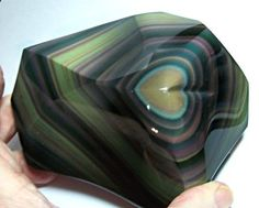 Mexican Specimens Gallery: Rainbow Obsidian, with heart! - Nature Is Beautiful