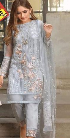 Threads Chiffon Suit - Buy Online at Replica Zone.