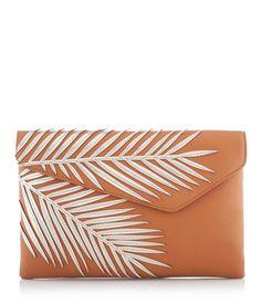 Debutante Palm Clutch | Wedding Accessories | Henri Bendel  In White