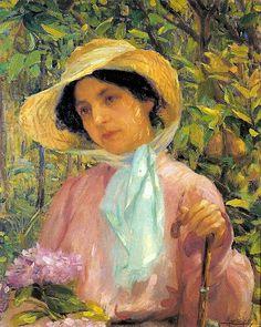 Retrato de Georgina de Albuquerque, por Lucílio de Albuquerque (1907) - [Acervo da Pinacoteca do Estado, São Paulo]