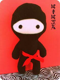 *Rook No. 17: recipes, crafts & creative nesting*: Ninja Birthday Party, Part III ~Lil' Plush Ninja Tutorial