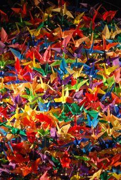 Origami chandelier