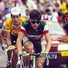 Gianni Bugno Miguel Indurain Vintage Cycles, Vintage Bikes, E Sport, Bicycle Race, Pro Cycling, Road Bike, Racing, Badges, Live