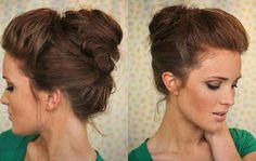 The Freckled Fox - a Hairstyle Blog: Hair Tutorial: The Bouffant Bun