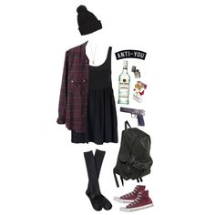 """Um...no alcohol, cigarettes, and gun please...I'll pass on that..:but cute back to school outfit (though I HATE to utter the words """"back to school"""")"""