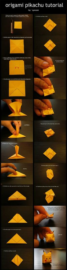 DIY origami pikachu ^_^