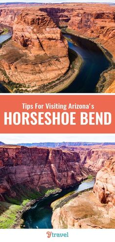 Planning to visit Arizona? Horseshoe Bend is that famous landmark along the Colorado River. See inside for tips on how to get there things to do there tours and where to stay. Visit Arizona, Arizona Travel, Arizona Usa, Beautiful Places To Visit, Cool Places To Visit, Canada Travel, Travel Usa, Travel Goals, Travel Tips