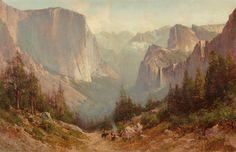 Thomas Hill (American, 1829-1908) Yosemite Oil on canvas