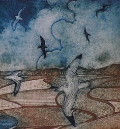 Collagraph Print | ... of Laurie Rudling - Aquatint Etchings, Collagraphs and Original Prints
