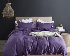 Orange duvet cover king   Etsy Ruffles, Ruffle Duvet, Cotton Duvet, Duvet Cover Sizes, Comforter Cover, Queen Size Comforter Sets, Bedding Sets, Crib Bedding, Gray Bedroom