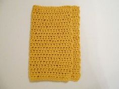 1 Yellow Handcrafted Dish Cloth