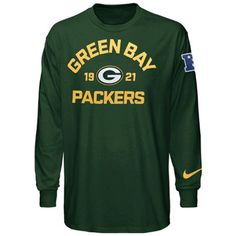 Nike Green Bay Packers Arch Long Sleeve T-Shirt - Green