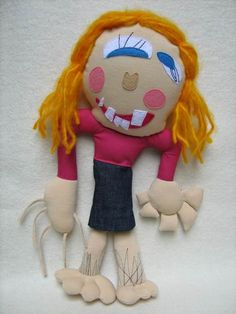 Hand made custom stuffed toys and animals made from children's drawings. I Am Grateful, Designer Toys, Drawing For Kids, Softies, Projects To Try, Sisters, Stuffed Toys, Dolls, Christmas Ornaments