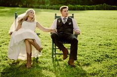 Cowboy boots + a checkered tie | Rustic Wedding Inspiration | The Wedding Traveler