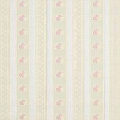 Rose Gold and Pink Victorian Stripe Floral Accent Brocade Upholstery Fabric