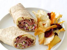 Roast Beef Wraps with Dill Slaw : Quick and easy dill slaw, made with preshredded coleslaw mix, gives this lunchtime classic a crunchy, flavorful twist.