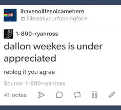 Dallon is my dad and deserves to be appreciated