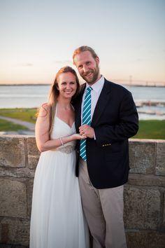 Kristin May & Joel Senger by James Jones, Photography RI | Fort Adams, Newport RI