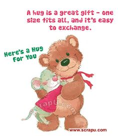 A hug is a great gift. love friendship animated friend friendship quote greeting hugs and kisses for you friends and family greeting Hug Day Pictures, Hug Day Images, Teddy Pictures, Love Images, Hugs And Kisses Quotes, Hug Quotes, Qoutes, Friendship Messages, Friendship Quotes
