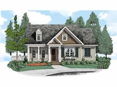 Cottage House Plan with 2147 Square Feet and 3 Bedrooms(s) from Dream Home Source | House Plan Code DHSW67490