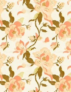 Magnolia Pattern Art Print