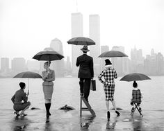 """""""I put my life on the line for photography and it returned the effort with abundance,"""" Mr. Smith wrote in 2014. Skyline, Hudson River, New York, 1995.  Rodney Smith's whimsical work invited comparisons to the Belgian surrealist Rene Magritte."""