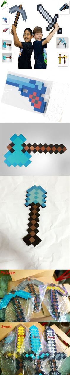 New 2014 Minecraft Toys Sword Pick Axe Gun Minecraft Game Props Model Toys Kids Toys Birthday & Christmas Gifts 18-23 inch $2.99