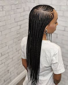 2020 African Braids Hairstyles : Hairstyles That Look So AwesomeLatest Ankara Styles and Aso Ebi Styles 2020 Feed In Braids Hairstyles, Braided Hairstyles For Black Women Cornrows, Haircuts For Wavy Hair, Bohemian Hairstyles, Black Girls Hairstyles, Weave Hairstyles, Straight Hairstyles, Short Haircuts, Beauty