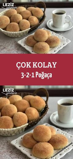 Çok Kolay 3-2-1 Poğaça Turkish Recipes, Beautiful Cakes, Ham, Easy Meals, Food And Drink, Turkey, Bread, Dining, Cooking