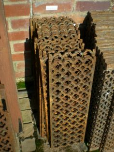 aimed Victorian Cast Iron Floor Grilles