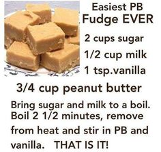 Easy Peanut Butter Fudge. Seemed a little gritty. I think I need to cook it on hi/med instead of high.