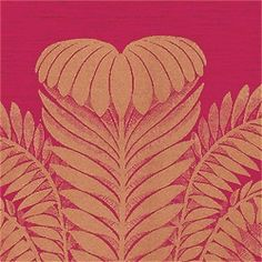 PALM DAMASK, Crimson, T9371, Collection Damask Resource from Thibaut