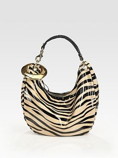 Jimmy Choo  Small Patent Leather Hobo Bag