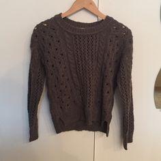 Grey knit sweater (new) unworn, knit sweater Free People Sweaters Crew & Scoop Necks
