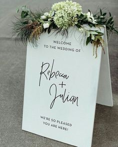 Wedding invitation wedding sign