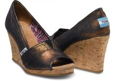 Wow, cute wedges by TOMS!  Copper Azar Women's Wedges hero