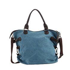 Marca west Women Large Capacity Canvas Canvas Handbag Purse Shoulder Crossbody Messenger Sling Bag Tote