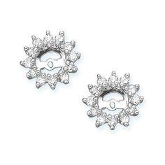 10K White Gold 1/2 ct. Diamond Earring Jackets (Higher Quality) Katarina. $415.00. Save 66% Off!
