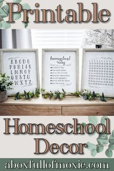 Looking for some affordable options to spruce up your homeschool space with cute decorations? Well here is a set of Printables that include Homeschool Rules, ABC's & 100 Chart. A cute style perfect for any homeshool room. Homeschool decor is a great way to make your homeshool room the perfect space for you and your little ones to learn. #homeschooldecor #homeschoolroom #homeshoolspace