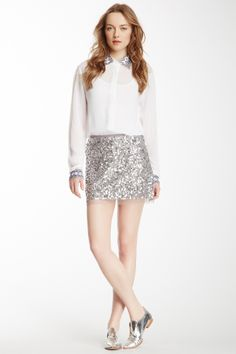 Chan Luu Sequin Mini Skirt