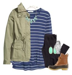 """"""""""" by econgdon ❤ liked on Polyvore featuring MANGO, H&M, Kate Spade, L.L.Bean and Kendra Scott"""