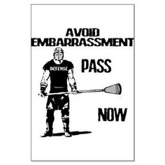 Lacrosse Defense Pass Large Poster