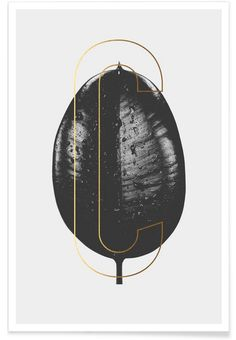 Plants C als Premium Poster door typealive | JUNIQE