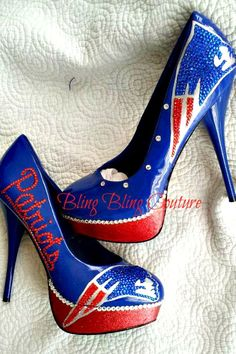 New England Patriots heel. Bling Bling Couture on Facebook