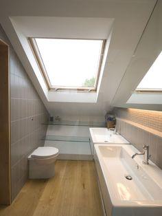 great loft ensuite koupelna podkroví střešní okno