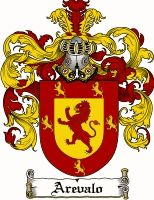 AREVALO  family crest / coat of arms from www.4crests.com #coatofarms #familycrest #familycrests #coatsofarms #heraldry #family #genealogy #familyreunion #names #history #medieval #codeofarms #familyshield #shield #crest #clan #badge #tattoo