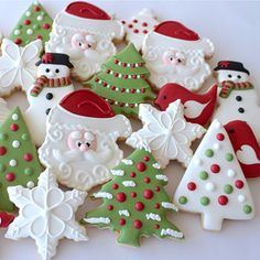 Get inspired for your next baking project by viewing a variety of decorated cookies made from Ann Clark Cookie Cutters. Christmas Tree Cookie Cutter, Christmas Cookies Kids, Xmas Cookies, Snowflake Cookies, Christmas Hamper, Iced Cookies, Christmas Cooking, Christmas Ornaments, Schneemann Cookies