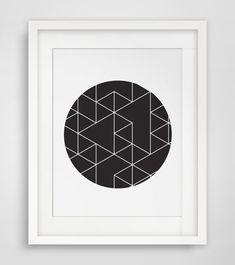 Geometric Print Minimalist Poster Art Poster by MelindaWoodDesigns #Geometricdecor