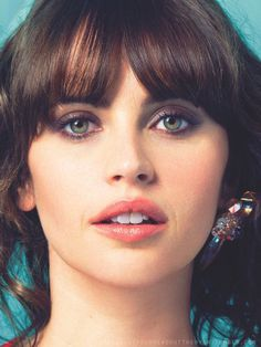 Felicity jones. Blue-Greens were made for this beautiful face....                                                                                                                                                     More